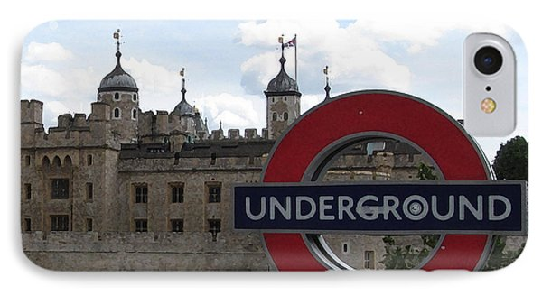 Next Stop Tower Of London IPhone 7 Case by Jenny Armitage