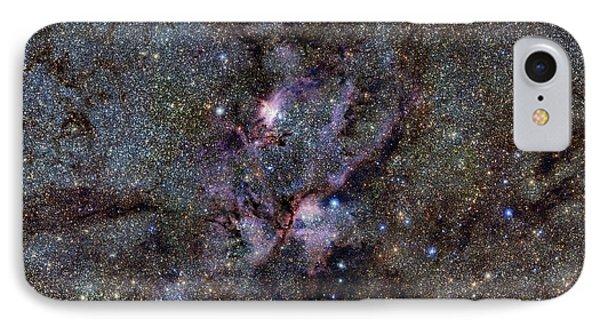 Ngc 6357 Nebula IPhone Case by Eso/vvv Survey/d. Minniti. Acknowledgement: Ignacio Toledo