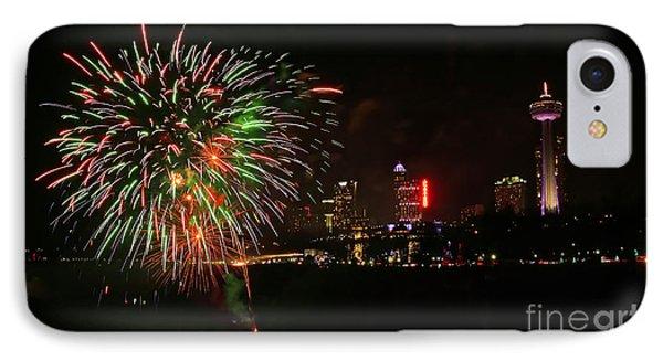 Niagara Falls Fireworks Phone Case by Charline Xia