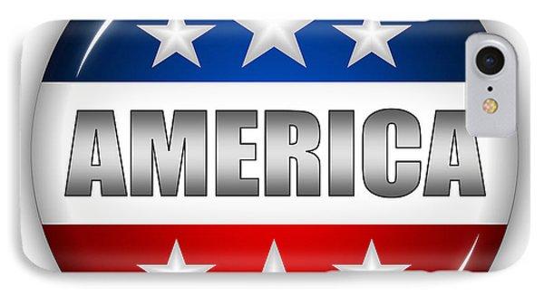 Nice America Shield Phone Case by Pamela Johnson