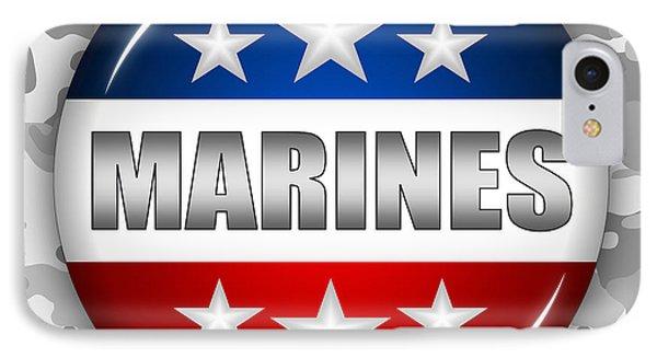 Nice Marines Shield 2 Phone Case by Pamela Johnson