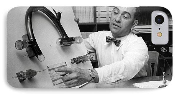 Nier And Uranium Separation, 1950s IPhone Case by Emilio Segre Visual Archives/american Institute Of Physics