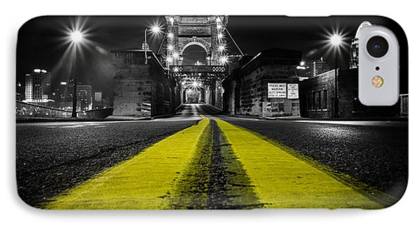 Night Bridge IPhone Case by Keith Allen