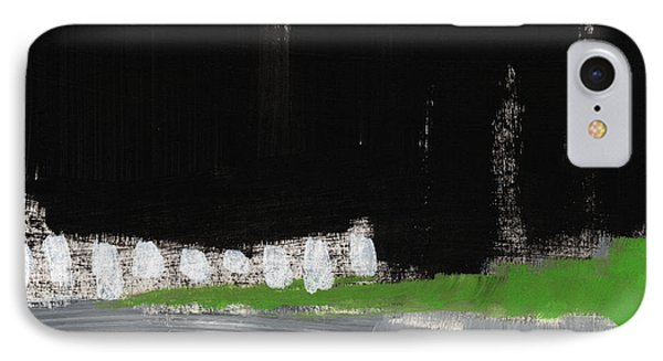 Night Horizon- Abstract Landscapeart IPhone Case by Linda Woods