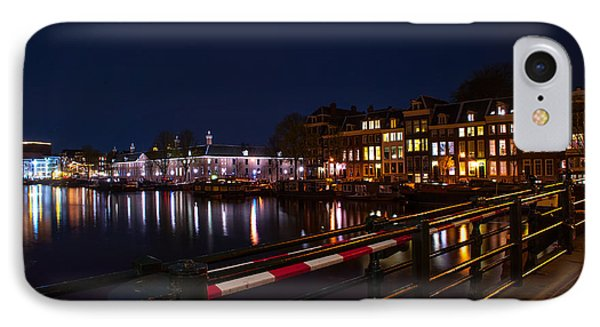 Night Lights On The Amsterdam Canals 5. Holland Phone Case by Jenny Rainbow