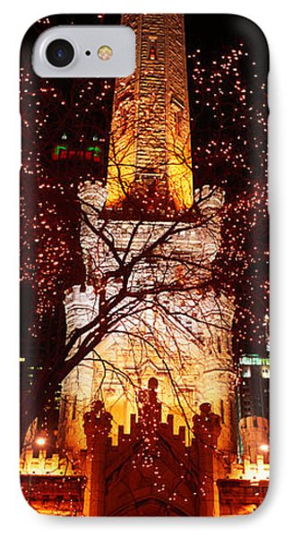 Night, Old Water Tower, Chicago IPhone Case by Panoramic Images
