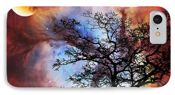 Night Sky Landscape Art By Sharon Cummings Phone Case by Sharon Cummings