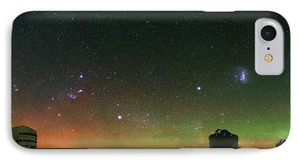 Night Sky Over Vlt Telescopes IPhone Case by Babak Tafreshi