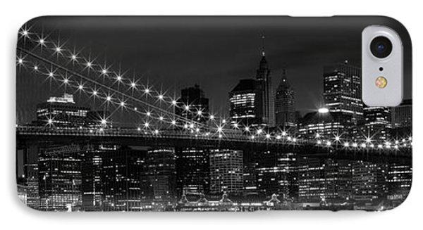 Night-skyline New York City Bw IPhone Case by Melanie Viola