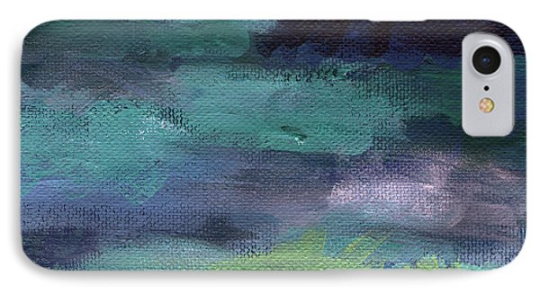 Night Swim- Abstract Art IPhone Case by Linda Woods