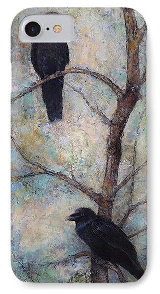 Night Watch -  Ravens IPhone Case by Lori  McNee