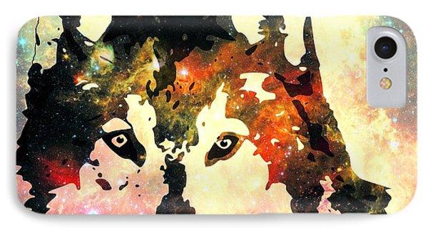 Night Wolf Phone Case by Anastasiya Malakhova