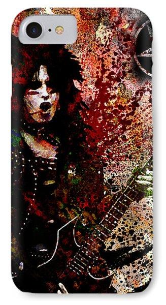 Nikki Sixx - Motley Crue  IPhone Case by Ryan Rock Artist