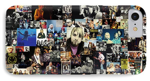 Nirvana Collage IPhone Case by Taylan Soyturk