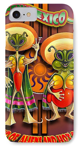 New Mexico Land Of Aliens And Hot Chile IPhone Case by Ricardo Chavez-Mendez