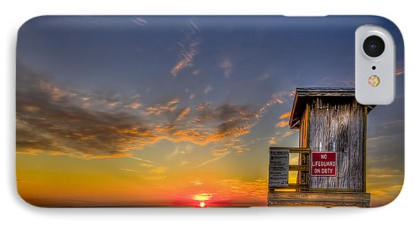 No Life Guard On Duty IPhone Case by Marvin Spates