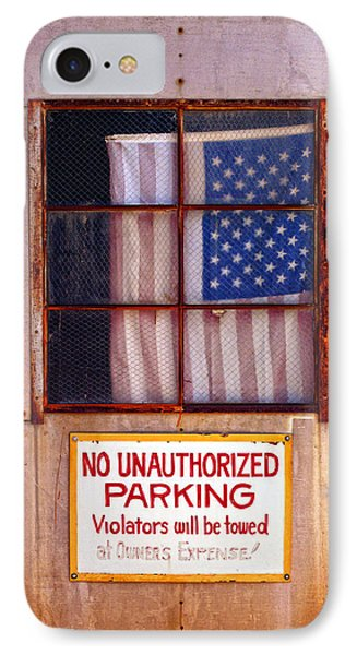 No Unauthorized Parking IPhone Case by Ron Regalado