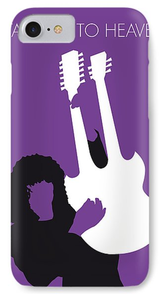 No011 My Led Zeppelin Minimal Music Poster IPhone Case by Chungkong Art