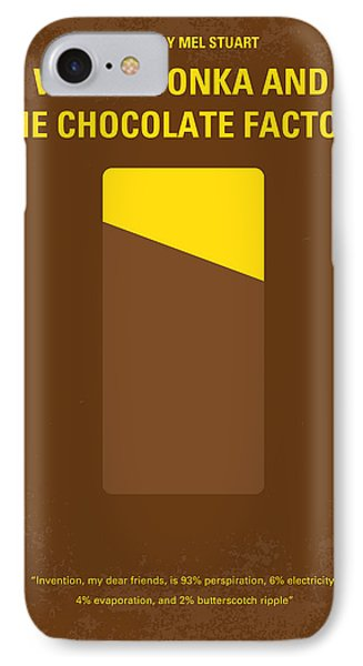 No149 My Willy Wonka And The Chocolate Factory Minimal Movie Poster IPhone Case by Chungkong Art