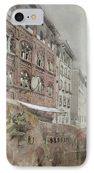 No.1590 Palazzo Agostini, Pisa, 1845 Phone Case by John Ruskin