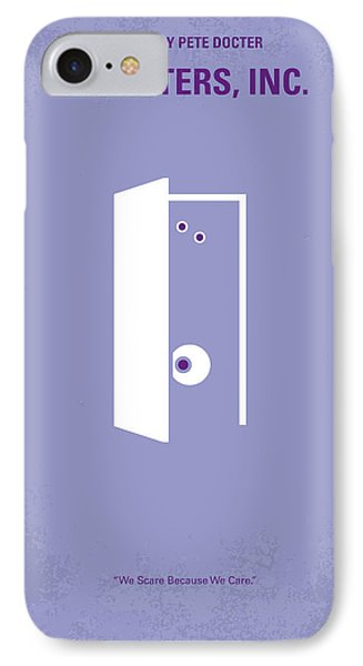No161 My Monster Inc Minimal Movie Poster IPhone 7 Case by Chungkong Art