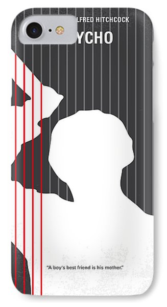 No185 My Psycho Minimal Movie Poster IPhone Case by Chungkong Art