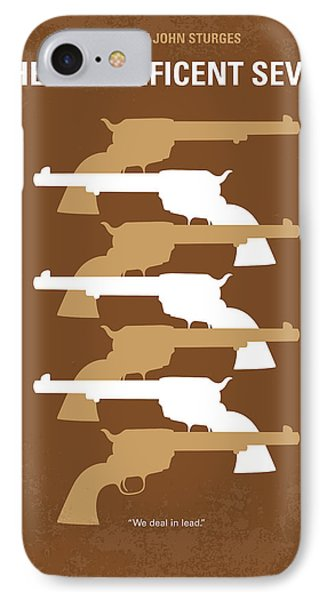 No197 My The Magnificent Seven Minimal Movie Poster IPhone Case by Chungkong Art