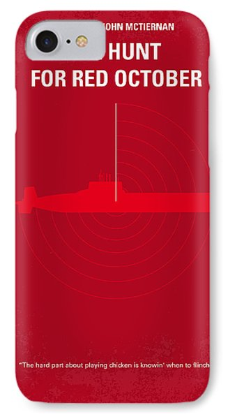 No198 My The Hunt For Red October Minimal Movie Poster IPhone 7 Case by Chungkong Art