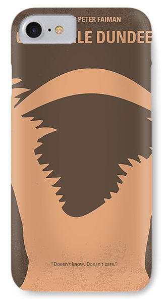 No210 My Crocodile Dundee Minimal Movie Poster IPhone 7 Case by Chungkong Art