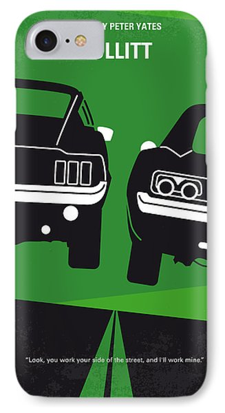 No214 My Bullitt Minimal Movie Poster IPhone Case by Chungkong Art