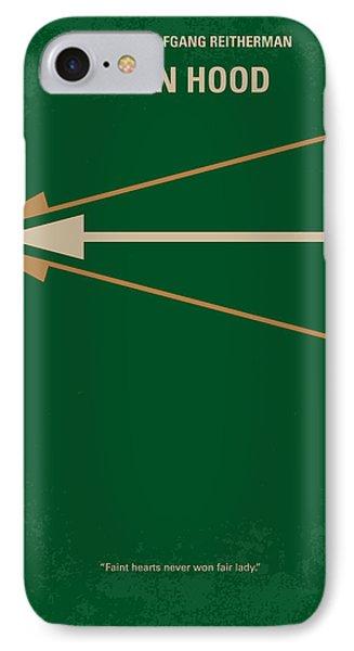 No237 My Robin Hood Minimal Movie Poster IPhone Case by Chungkong Art