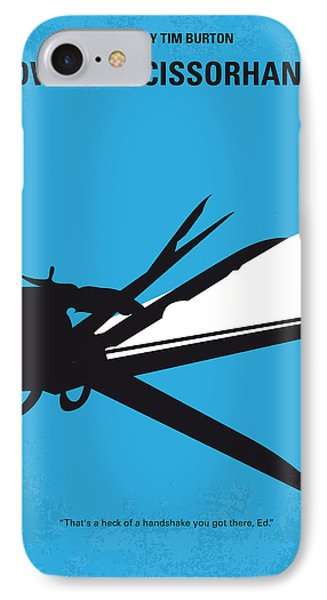 No260 My Scissorhands Minimal Movie Poster IPhone Case by Chungkong Art