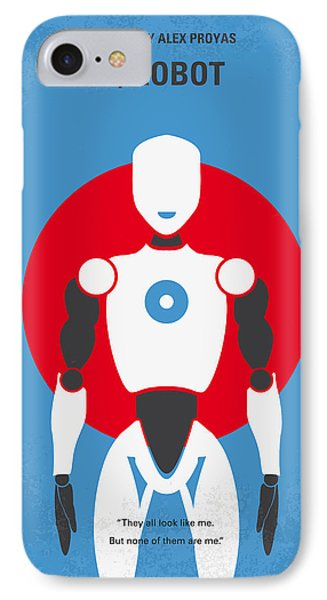 No275 My I Robot Minimal Movie Poster IPhone Case by Chungkong Art