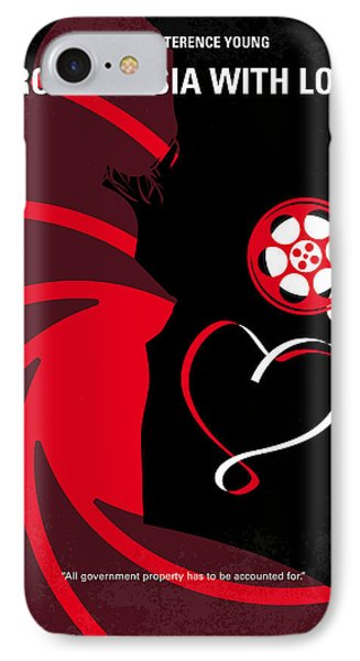 No277-007 My From Russia With Love Minimal Movie Poster IPhone Case by Chungkong Art