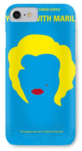 No284 My Week With Marilyn Minimal Movie Poster IPhone 7 Case by Chungkong Art