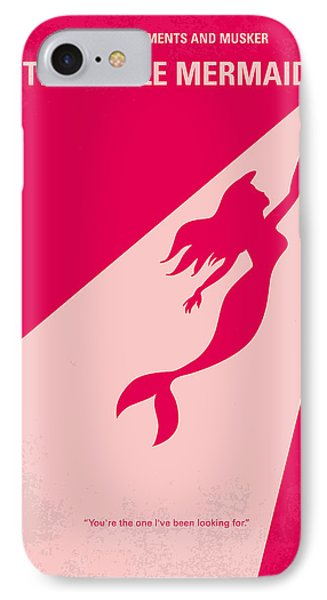 No314 My Mermaid Minimal Movie Poster IPhone Case by Chungkong Art