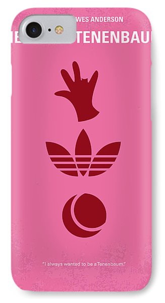 No320 My The Royal Tenenbaums Minimal Movie Poster IPhone Case by Chungkong Art