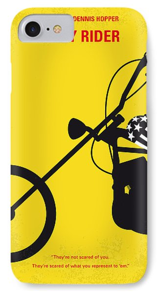 No333 My Easy Rider Minimal Movie Poster IPhone Case by Chungkong Art