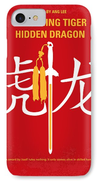No334 My Crouching Tiger Hidden Dragon Minimal Movie Poster IPhone Case by Chungkong Art