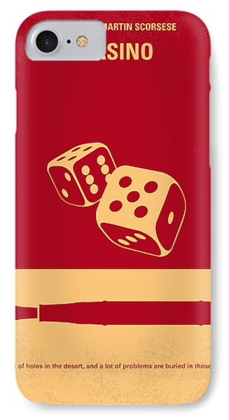 No348 My Casino Minimal Movie Poster IPhone Case by Chungkong Art