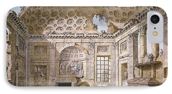 Monastery Of St Trinita Del Monte Phone Case by Charles Louis Clerisseau