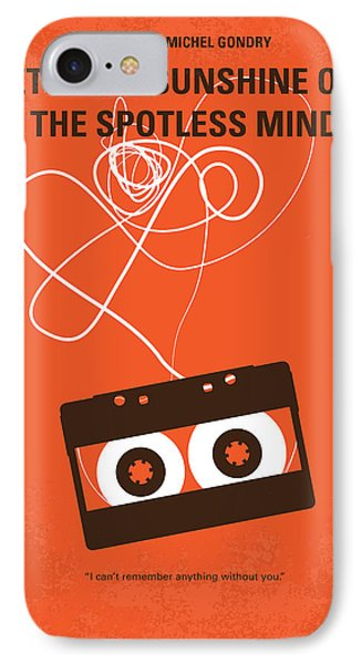 No384 My Eternal Sunshine Of The Spotless Mind Minimal Movie Pos IPhone Case by Chungkong Art