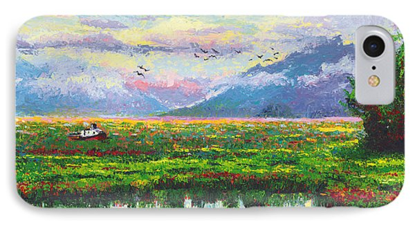 Nomad - Alaska Landscape With Joe Redington's Boat In Knik Alaska Phone Case by Talya Johnson