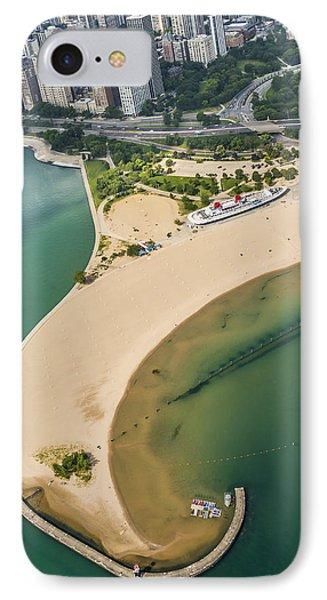 North Avenue Beach And Castaways Restaurant IPhone Case by Adam Romanowicz