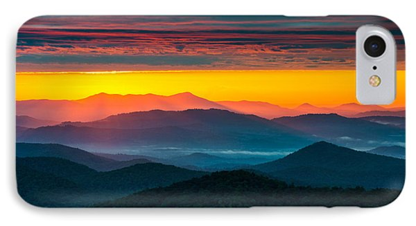 North Carolina Blue Ridge Parkway Morning Majesty Phone Case by Dave Allen