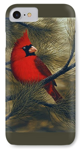 Northern Cardinal IPhone 7 Case by Rick Bainbridge
