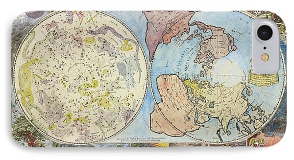 Northern Hemisphere Map IPhone Case by Lionel Pincus And Princess Firyal Map Division/new York Public Library