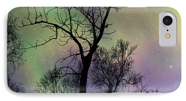 Northern Lights Cottonwood Phone Case by Ron Day