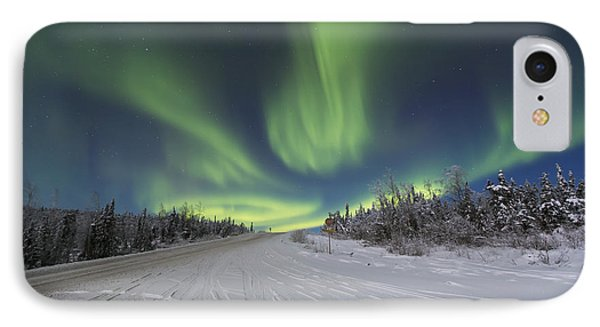 Northern Lights Dancing Over The James Phone Case by Lucas Payne