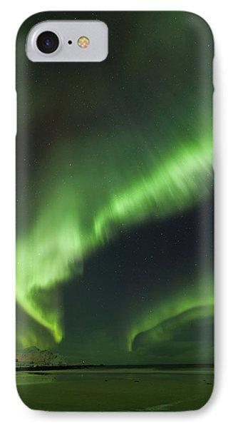 Northern Lights Lofoten Islands Norway IPhone Case by Sandra Schaenzer